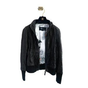 Mackage for Aritzia Jerry Leather Bomber Jacket